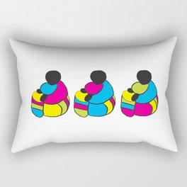3 Drummer Men Rectangular Pillow