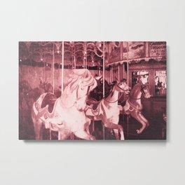 Burlington Carousel Metal Print