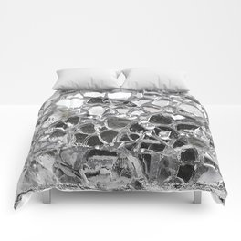 Silver Mirrored Mosaic Comforters
