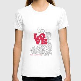 LOVE. 1 Corinthians 13:4-8. T-shirt