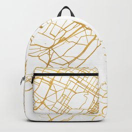 MONTREAL CANADA CITY STREET MAP ART Backpack