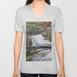 Overlooking the River Unisex V-Neck