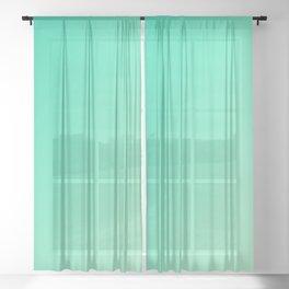 Dark Cyan Green and Light Cyan lime Green Gradient Ombré  Sheer Curtain