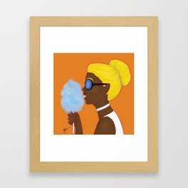 Cotton Candy Girl Framed Art Print