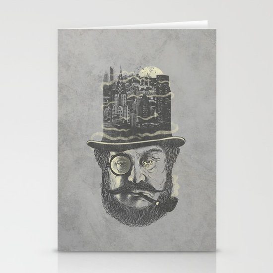 Old man hatten Stationery Cards