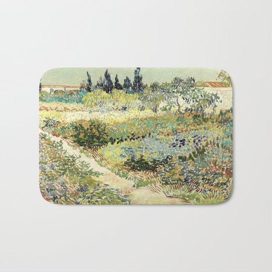 Vincent Van Gogh : Garden at Arles Bath Mat