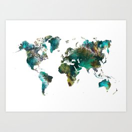 World map art prints society6 map of the world tree art print gumiabroncs Choice Image