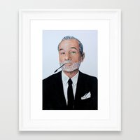 bill murray Framed Art Prints featuring Bill Murray. by elizabeth connor