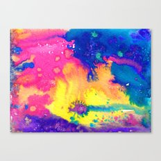rainbow nebula - tie dye watercolor abstract Canvas Print