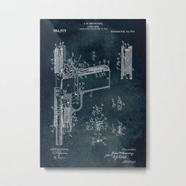 1911 - Firearm patent art Metal Print