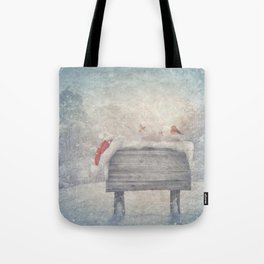 Winter wonderland birds  Tote Bag