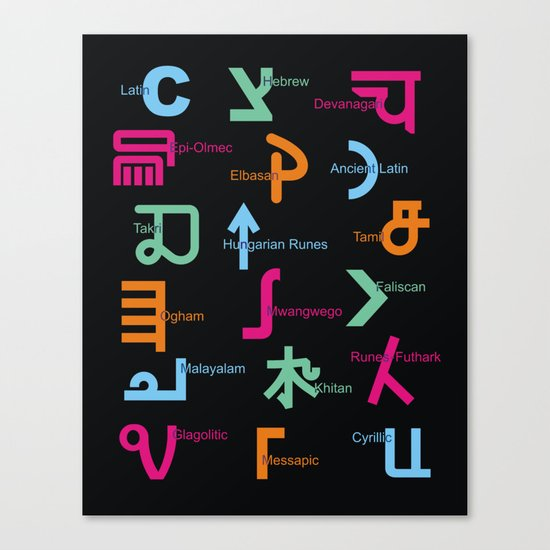 C in Scripts Around the World /I Canvas Print
