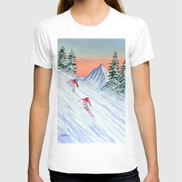 Skiing - She's Leading The Way T-shirt