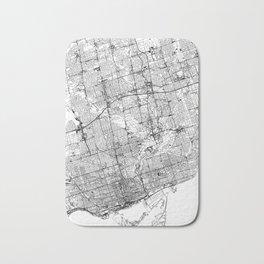 Toronto White Map Bath Mat