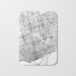 Toronto White Map Bath Mat
