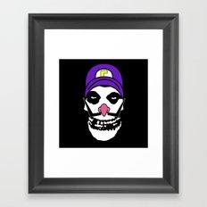 Misfit Waluigi Framed Art Print