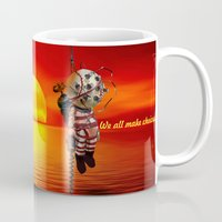 bioshock Mugs featuring sunset bioshock by sgrunfo