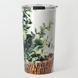 Plant On White Travel Mug