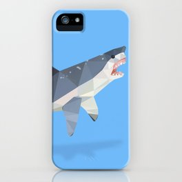 Low Poly Great White Shark iPhone Case