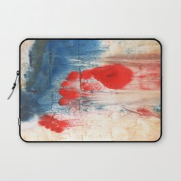Red Blue watercolor Laptop Sleeve