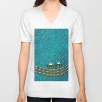 decorative V-neck T-shirts featuring Decorative design by nicky2342