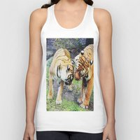 tigers Tank Tops featuring Tigers by Irene Jaramillo