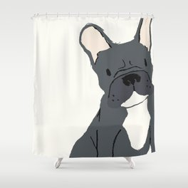 Cute French Bulldog (Black) Shower Curtain