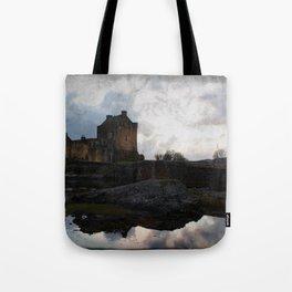 Eilean Donan Castle Kyle of Lochalsh Vintage Border Tote Bag