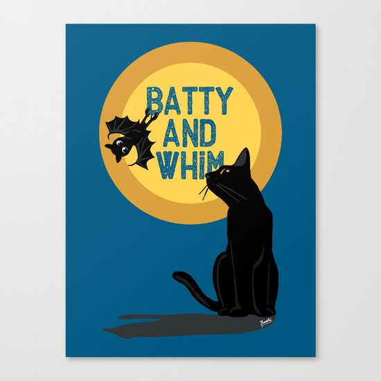 Batty and Whim Canvas Print