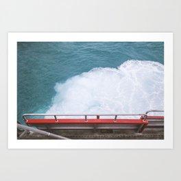 Water blitz Art Print