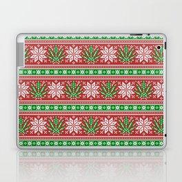 Christmas weed sweater Laptop & iPad Skin