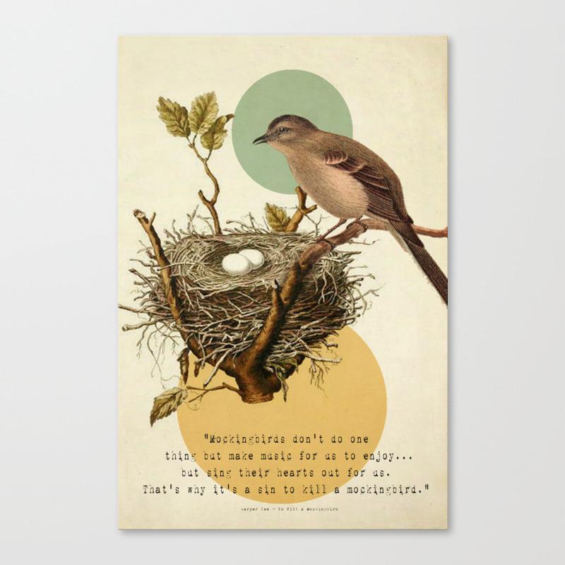 To Kill A Mockingbird Canvas Print by Carolknudsen CNV867236