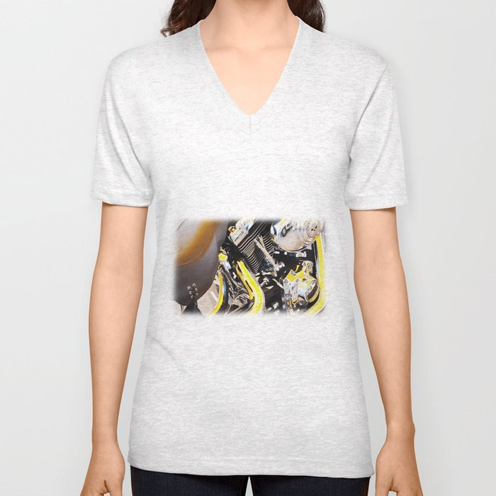 Motorcycle Unisex V-Neck