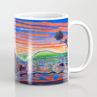 psychadelic Mugs featuring  Surf Art Psychadelic  by Surf Art Gabriel Picillo