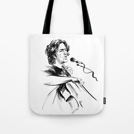 А man who sings and plays the cello Tote Bag