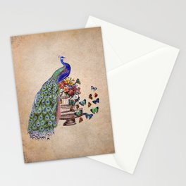 Vintage Peacock Beauty Stationery Cards