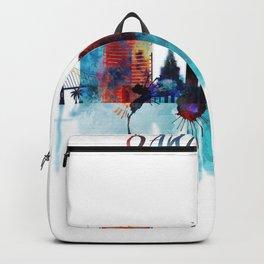 Oakland Skyline Blue Watercolor City Backpack