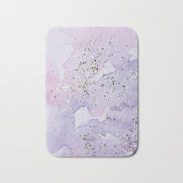 Pastel Glitter Watercolor Painting Bath Mat