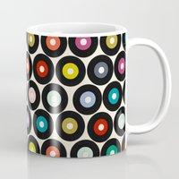 vinyl Mugs featuring VINYL by Sharon Turner