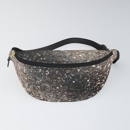 Sparkling GOLD BLACK Lady Glitter #3 #decor #art #society6 Fanny Pack