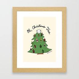 Xmas Tree + Me = Lit Up! Framed Art Print
