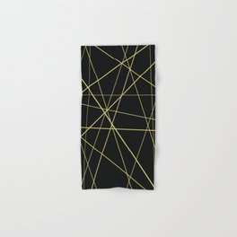 Golden lines on black Hand & Bath Towel