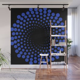 spiral in blue Wall Mural