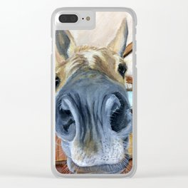 Oh Hai (Portrait of Hollywood) Clear iPhone Case