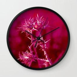 Fuchsia Thorns Wall Clock