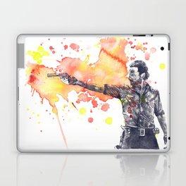 Portrait of Rick Grimes from The Walking Dead Laptop & iPad Skin