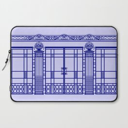 ART DECO, ART NOUVEAU IRONWORK: French Blue Laptop Sleeve