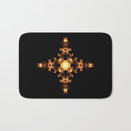 Fire Cross Bath Mat