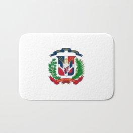 seal of the dominican republic-dominican,hispaniola,dominicana,antilles,caribean,santo domingo Bath Mat