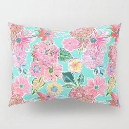 Fun Bright Whimsical Preppy Floral Print / Pattern Pillow Sham